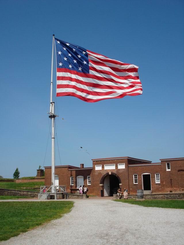 Resize of 15 Drapelul american la Fort McHenry, locul de nastere al imnului SUA,