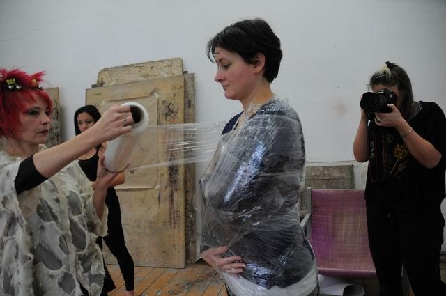performance - facultatea sculptura foto lucian muntean 13