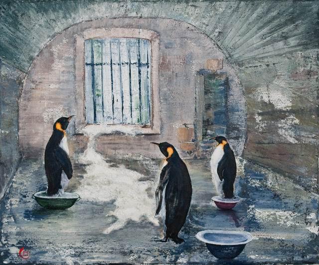 captivitate - pictura acril 50x60 cm lucian muntean 08