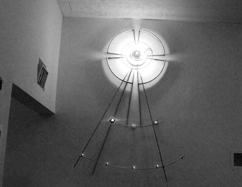 2 ASCENDING STAR WELDED STEEL NEON LED 8Ft HIGH