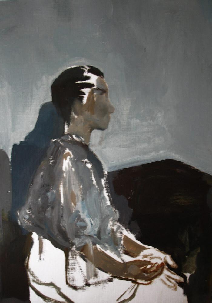 IOANA URSA, Meditatie, ulei pe hartie, 40x30, 2015