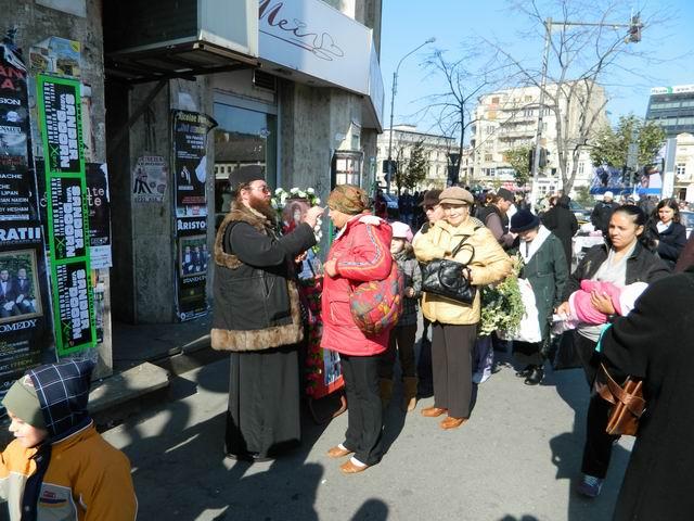 Resize of 10 Preot miruind pe trotuar in Piata Unirii din Bucuresti