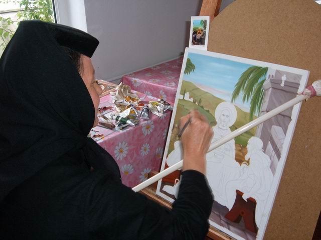 Resize of 7 Maicuta pictand icoane in telierele manastirii Vladimiresti