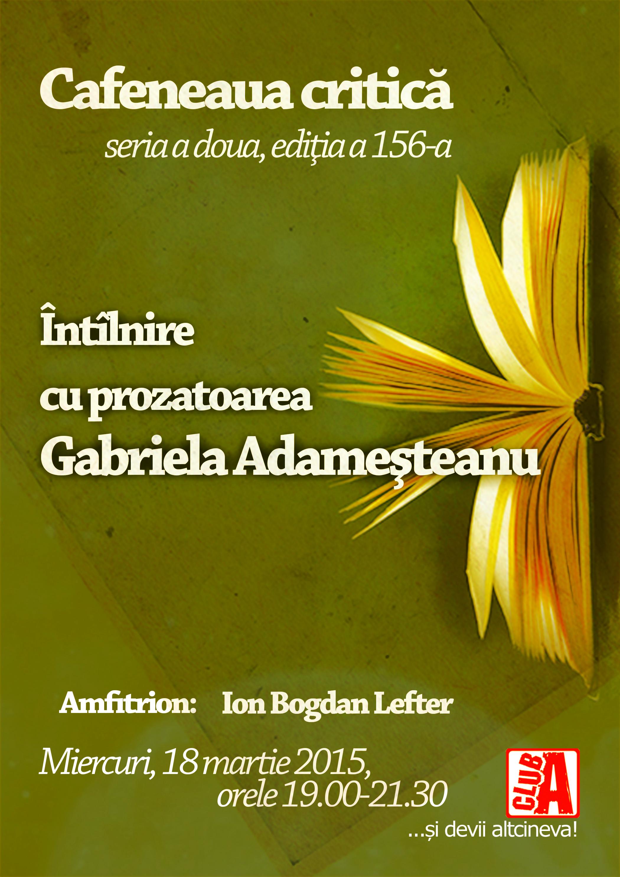 Cafeneaua critica 156 Gabriela Adamesteanu AFIS