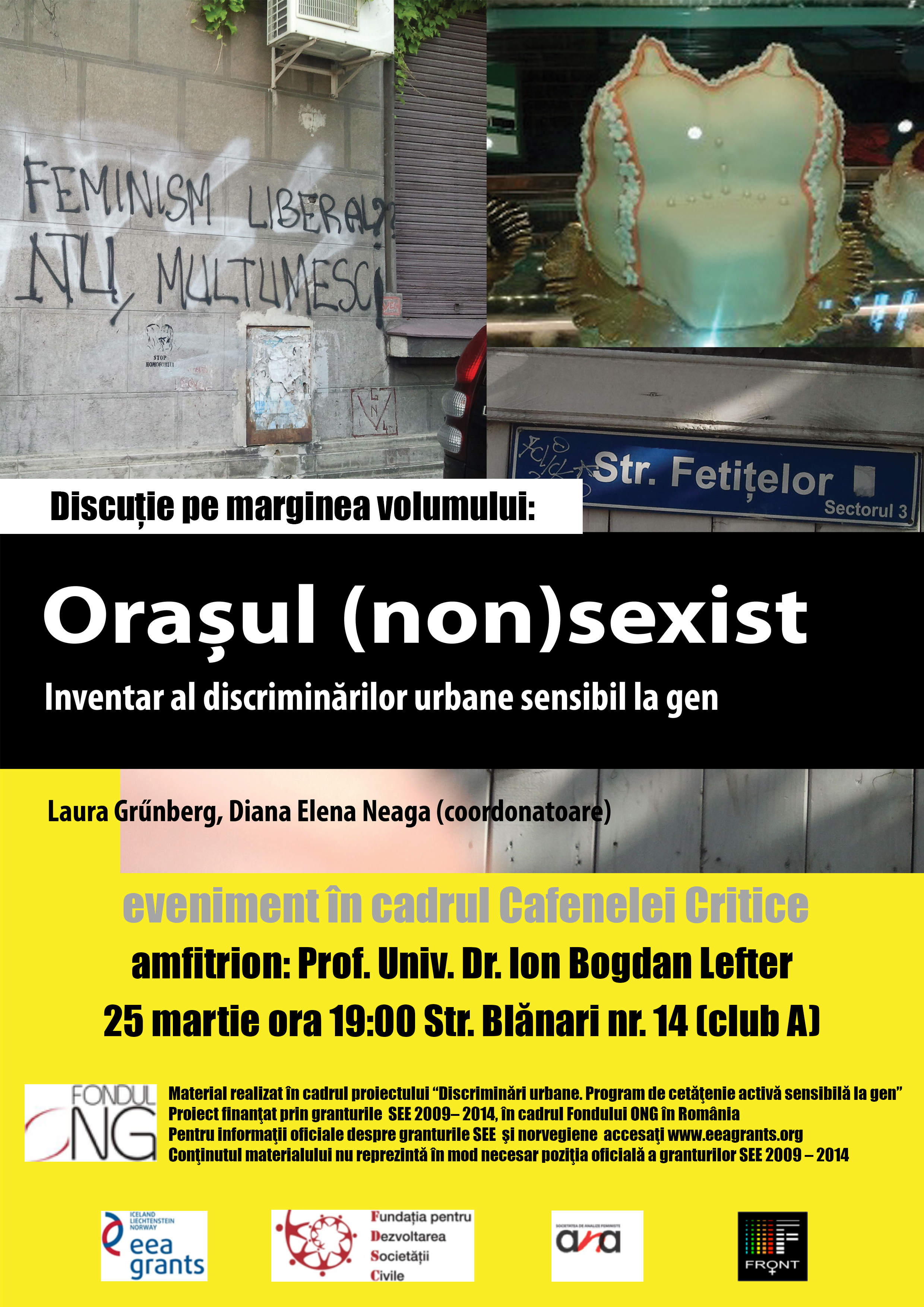 Cafeneaua critica 157 Orasul nonsexist AFIS 1