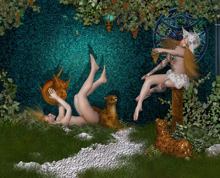 Laura Covaci, Desprinderea, pictura digitala, 2014 (1)