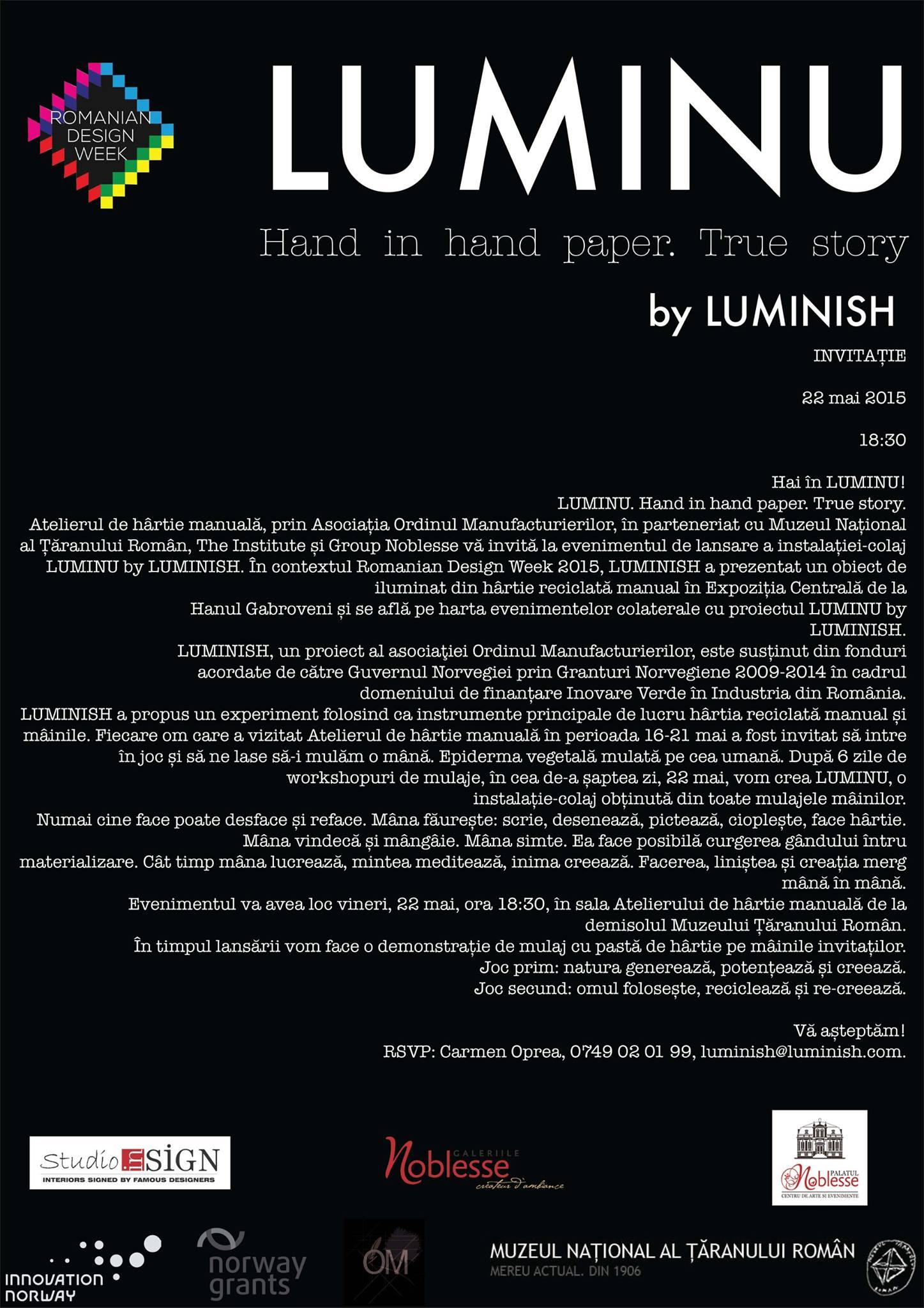 invitatie LUMINU