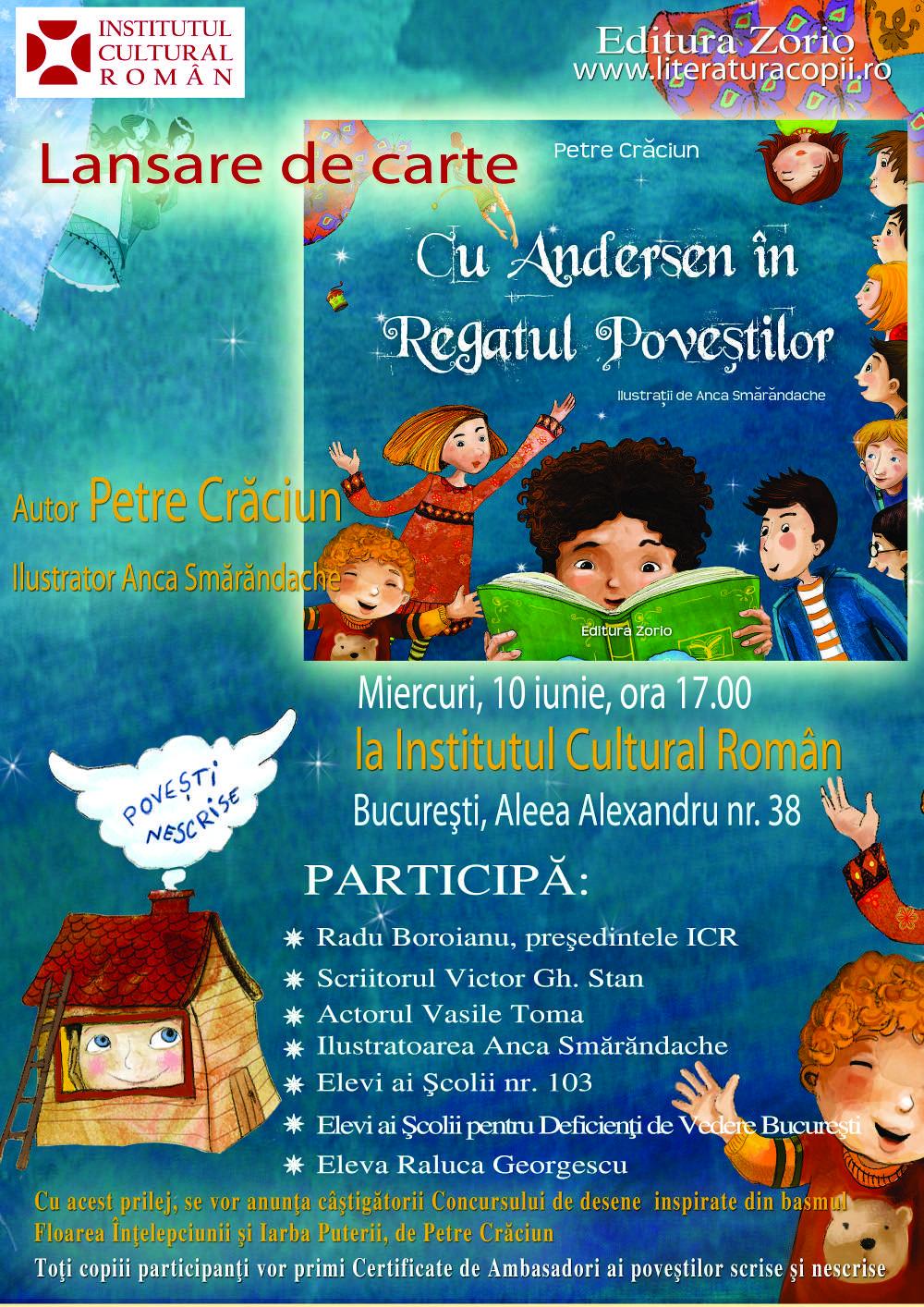 Afis Lansare carte pentru copii - ICR -10 iunie
