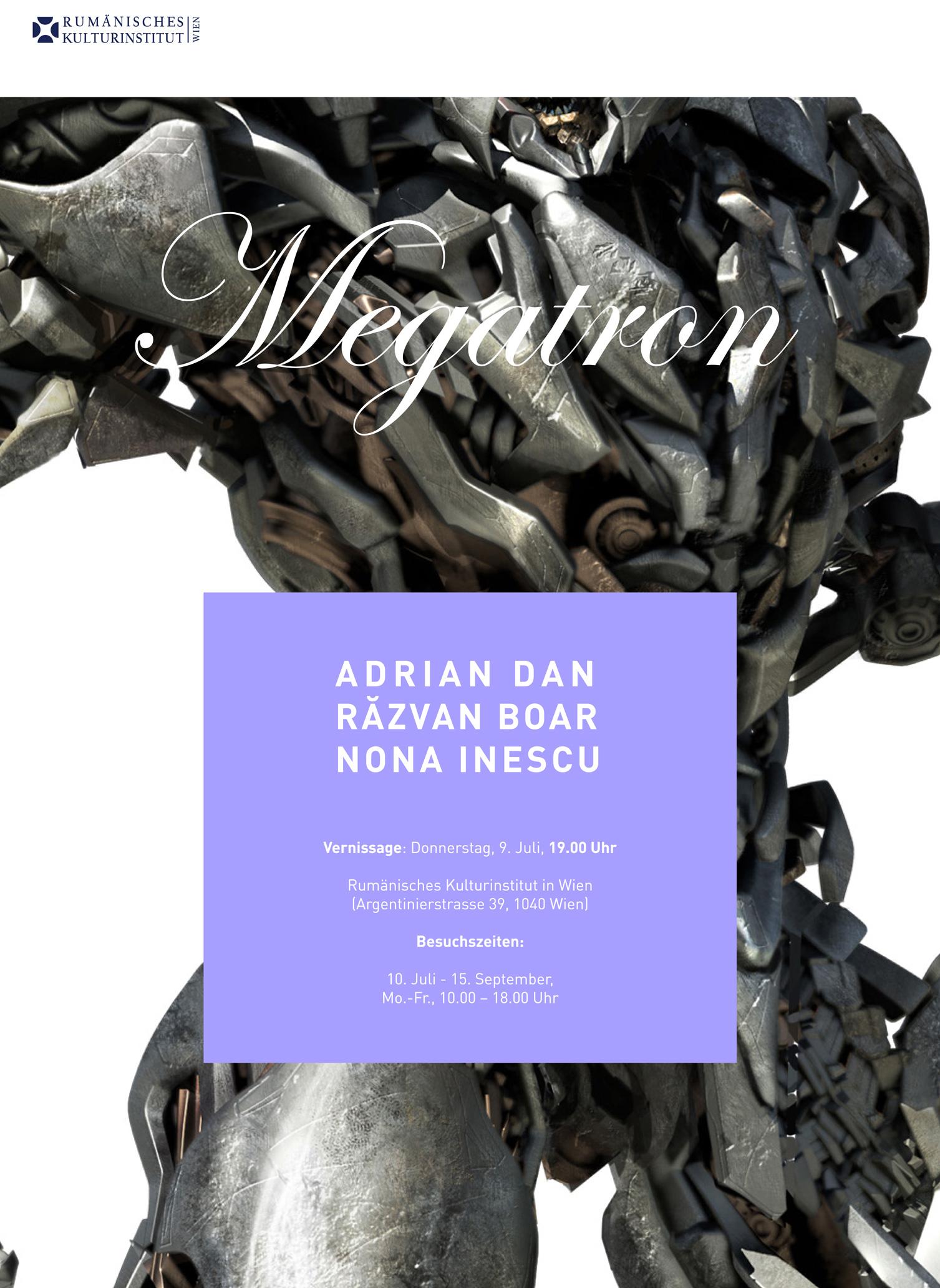 Megatron, expoziţie Adrian Dan, Răzvan Boar şi Nona Inescu la Galeria ICR Viena