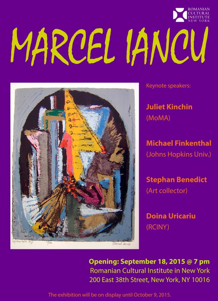 Marcel Iancu afis ICRNY