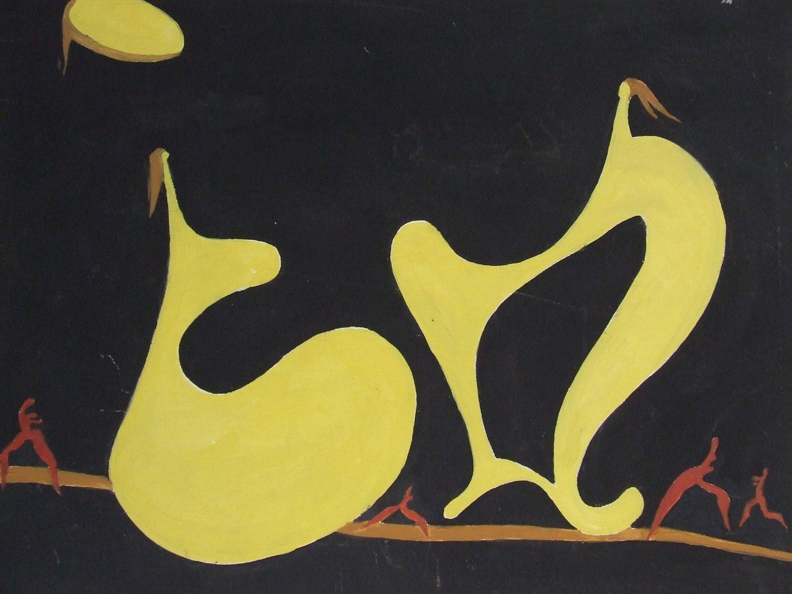 Serfi Serbanescu, Duet,  54 x 45 cm