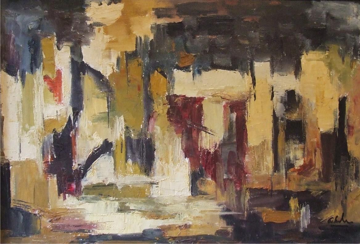 Anca Serbanescu, Grota, ulei pe panza, 37 x 53 cm