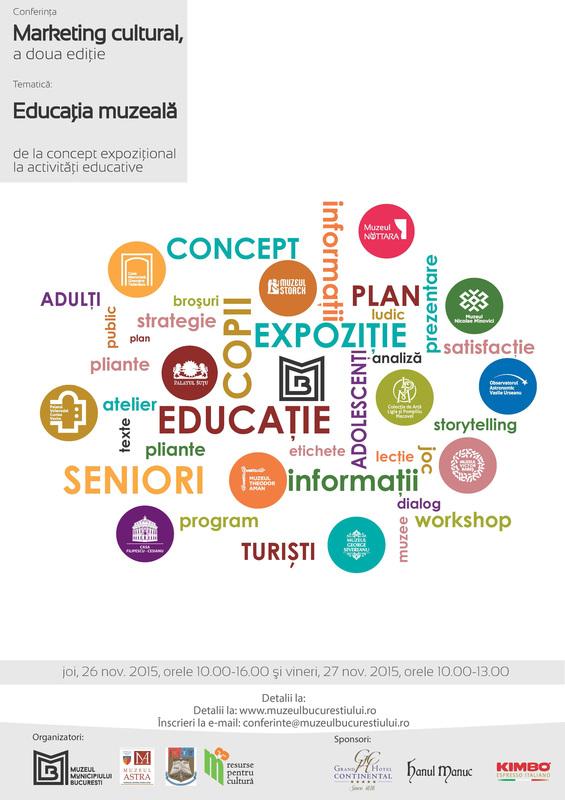 Conferinta Educatie muzeala MMB 26-27 nov