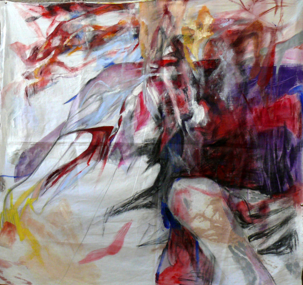 Ioana-Niculescu-Aron_The-Place-of-a-Murderer_-December-2014_acrylic-on-bed-sheet_120x120-cm