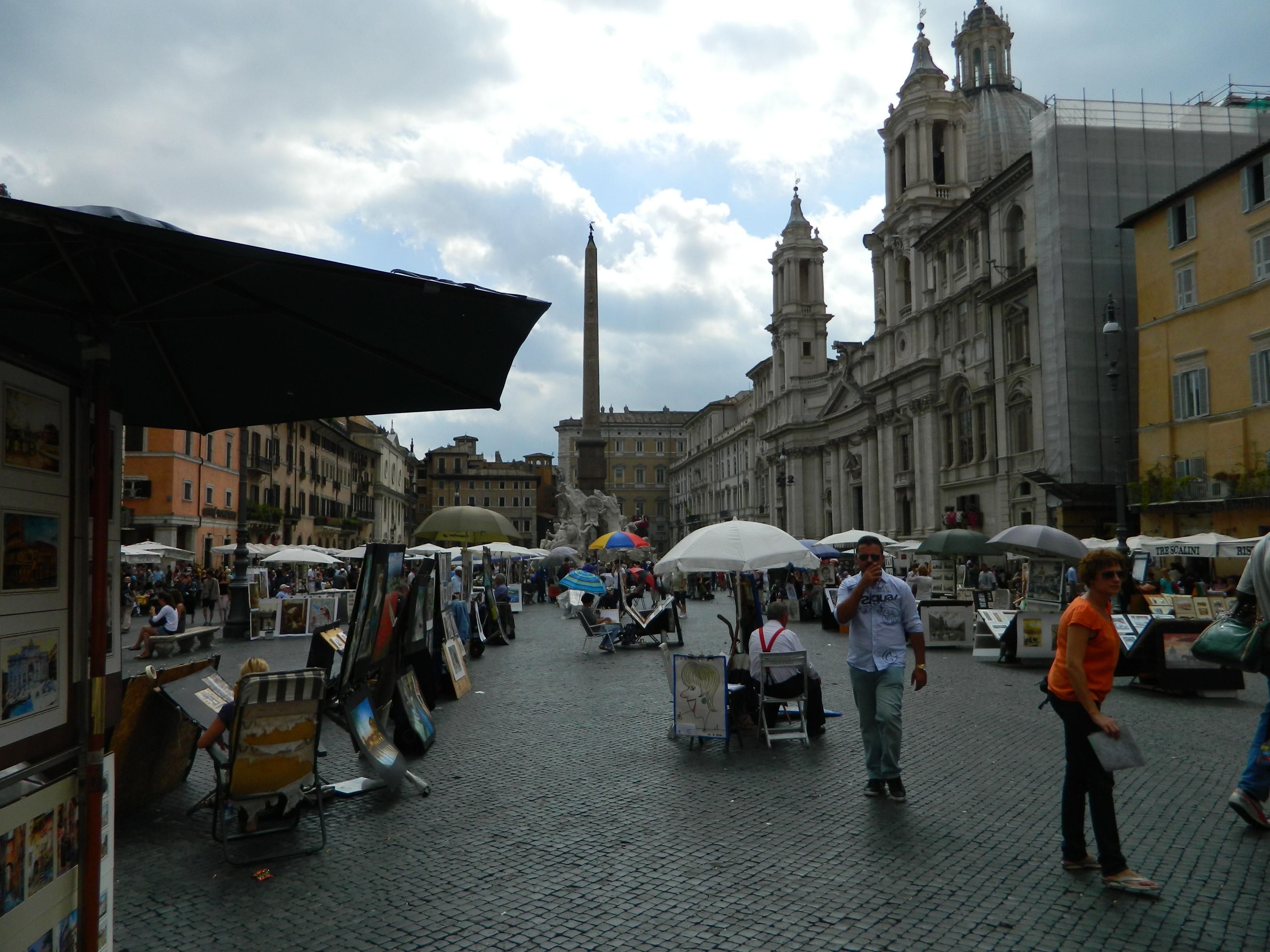 12 Piata Navona sau un fel de Place de Tertre italiana
