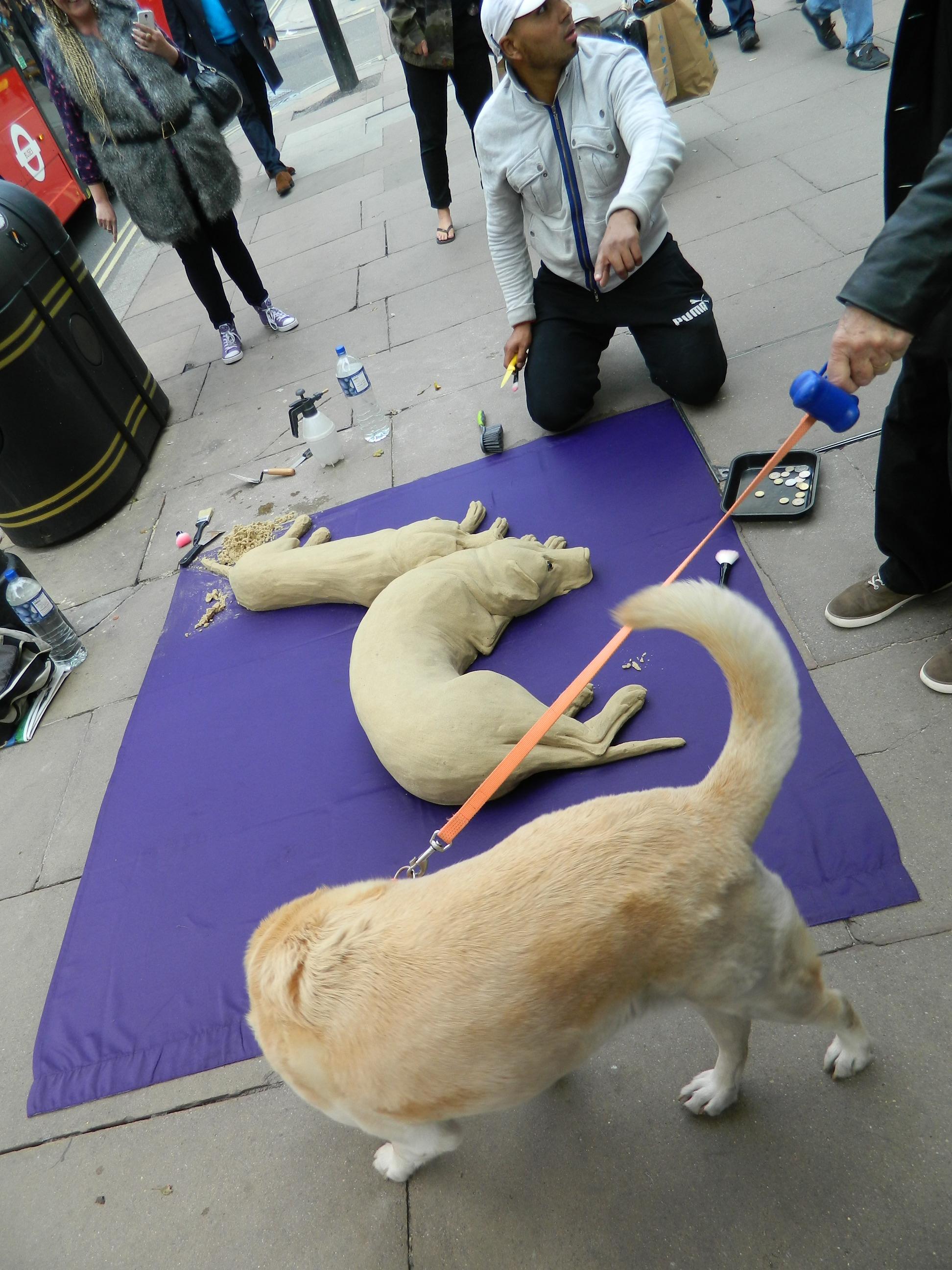 8 Anonimi sunt si cainele si artistul artizan de pe Oxford street