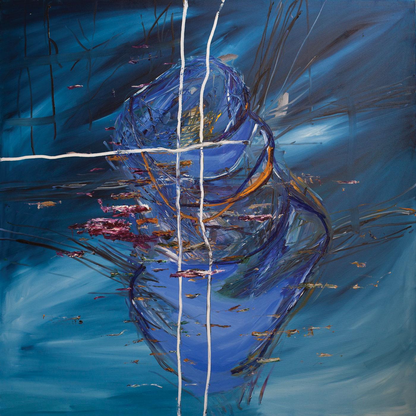 418 Gallery Petrica Stefan WATER CLOUD 1, ulei pe panza, 180x150cm, 2015