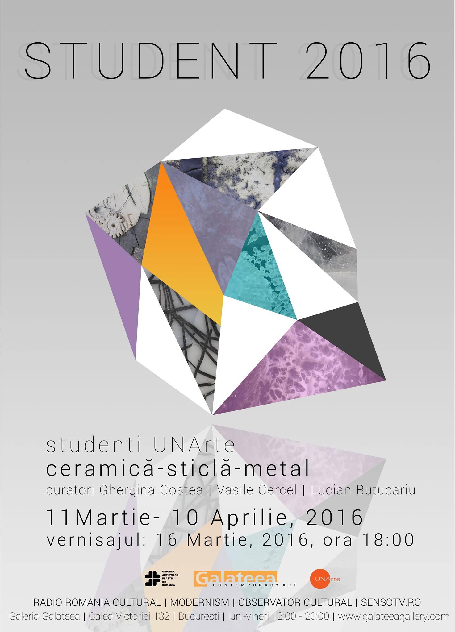 STUDENT 2016 - Expoziţia studenţilor de la UNArte Bucureşti