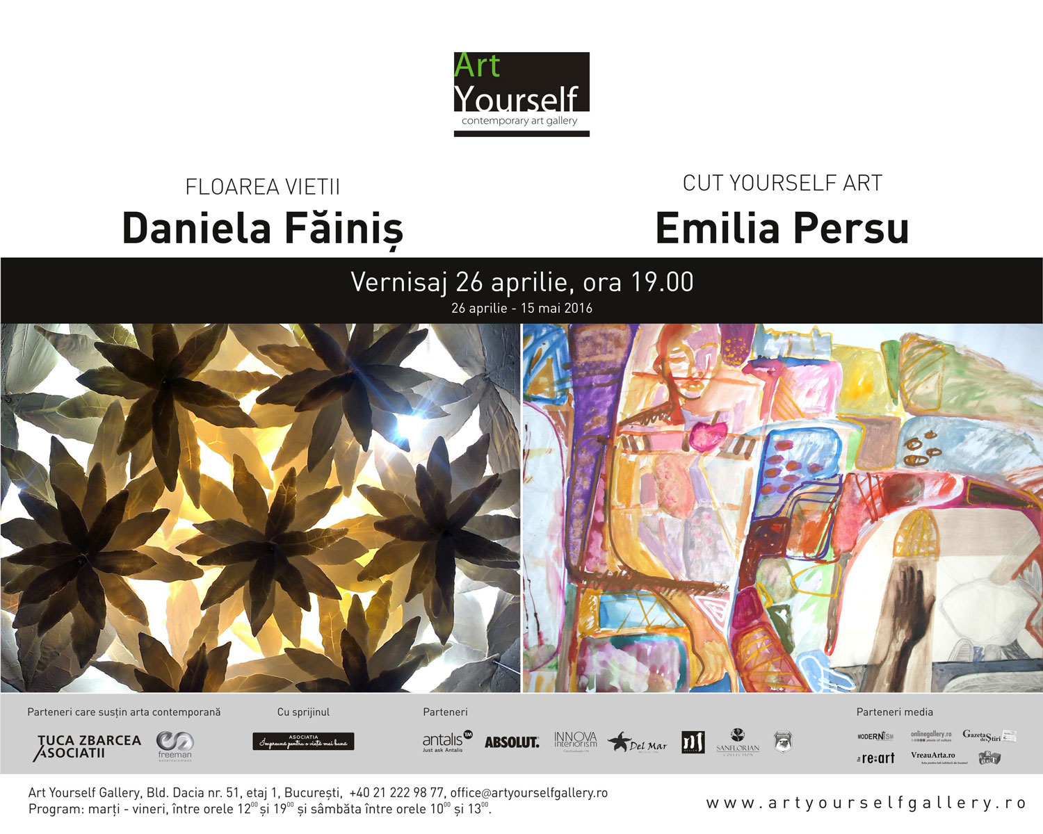 "Daniela-Făiniș,-""Floarea-vietii"",-Emilia-Persu-""CUT-YOURSELF-ART""-@-Art-Yourself-Gallery,-București"