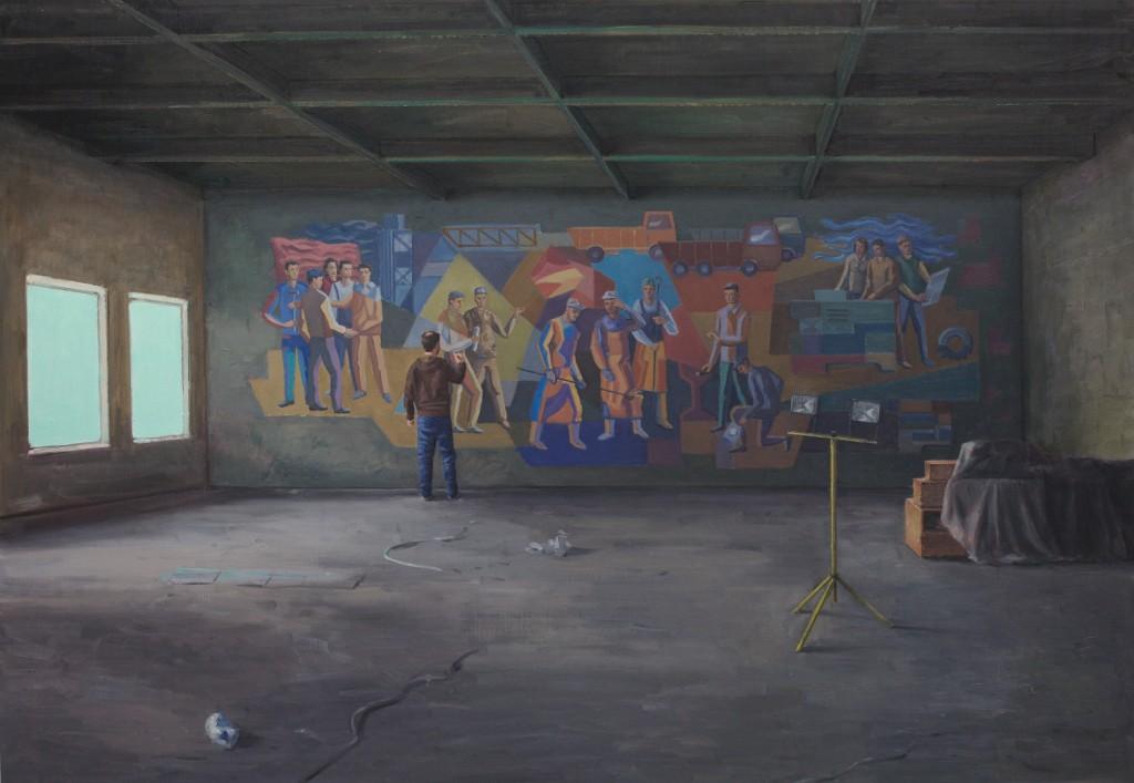 reenactment 152x220cm