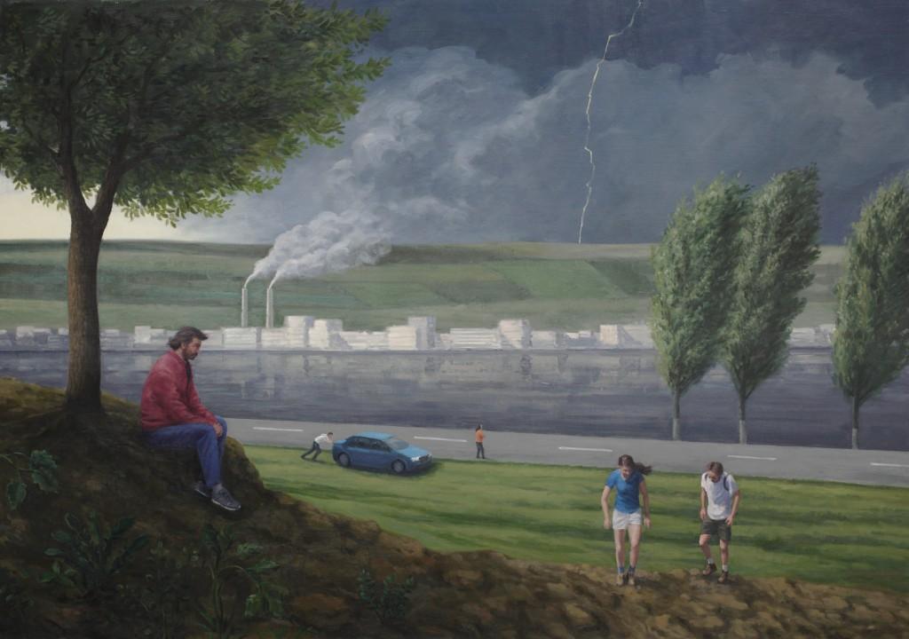 the storm 220x154cm