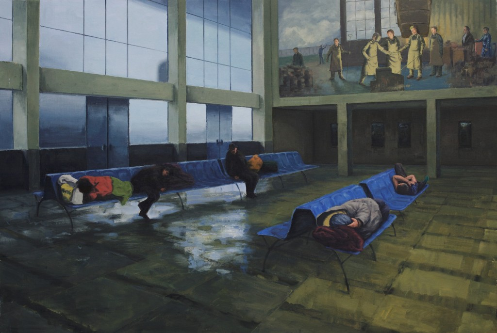 the waiting room 148x220cm