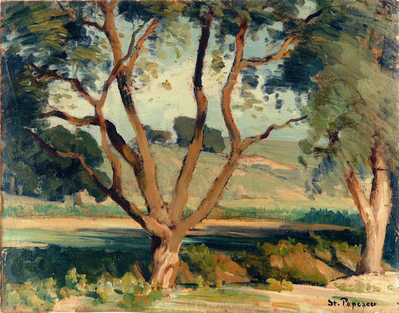 Popescu_Peisaj cu copaci
