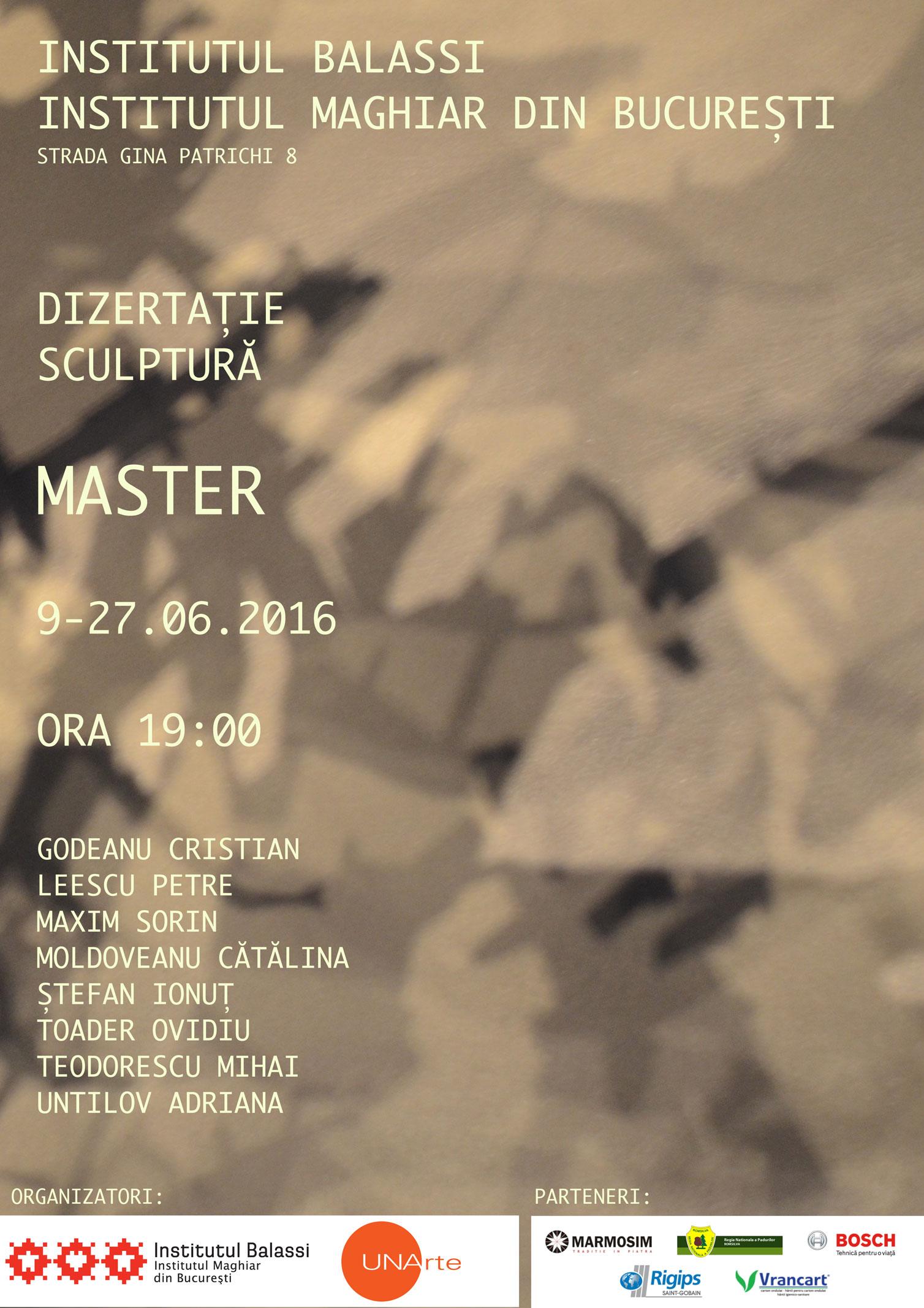 Expoziţia absolvenţilor de studii masterale de la Departamentul de Sculptură din cadrul Universității Naţionale de Artă din Bucureşti