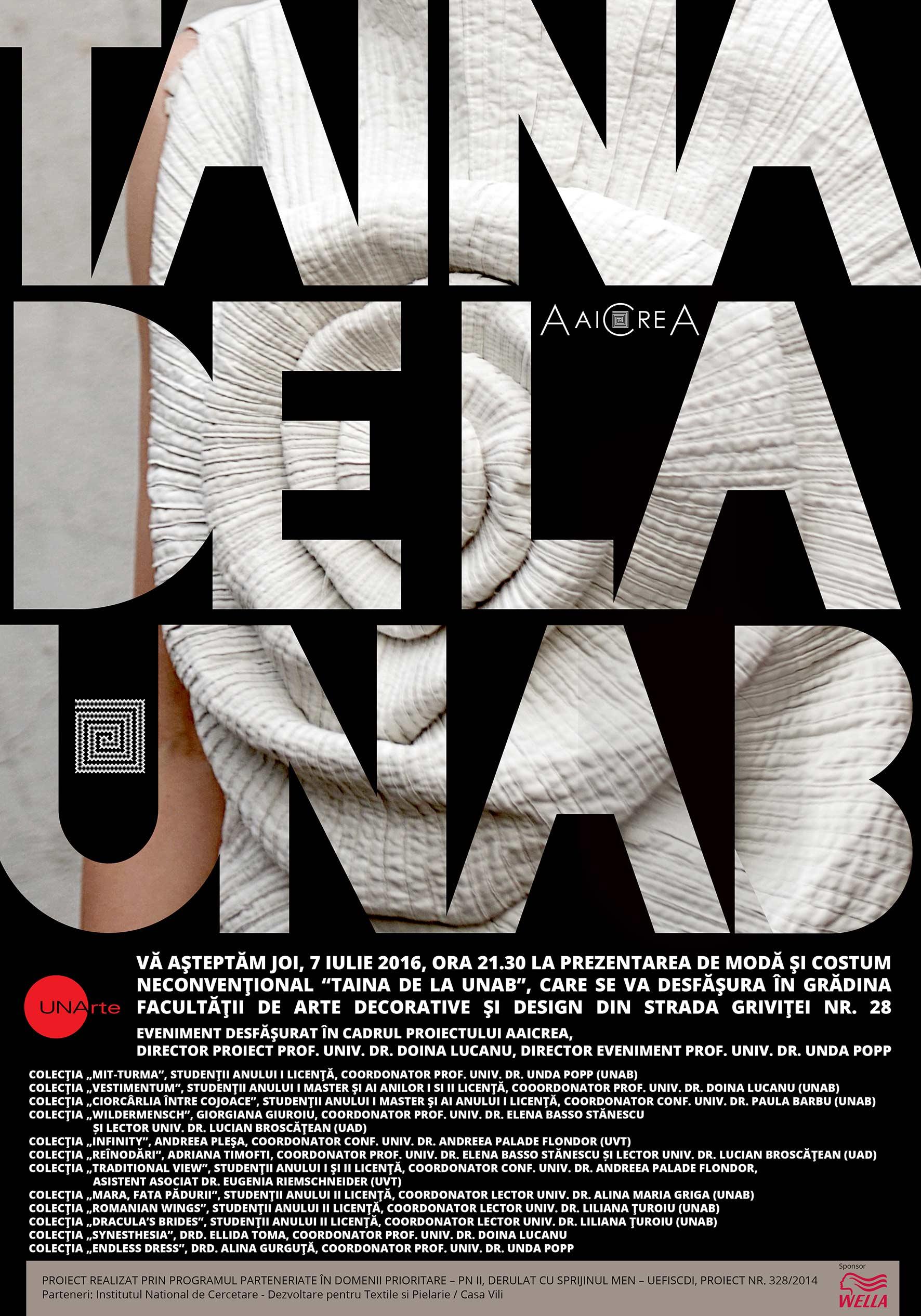 Taina de la UNAB Eveniment de cercetare artistică