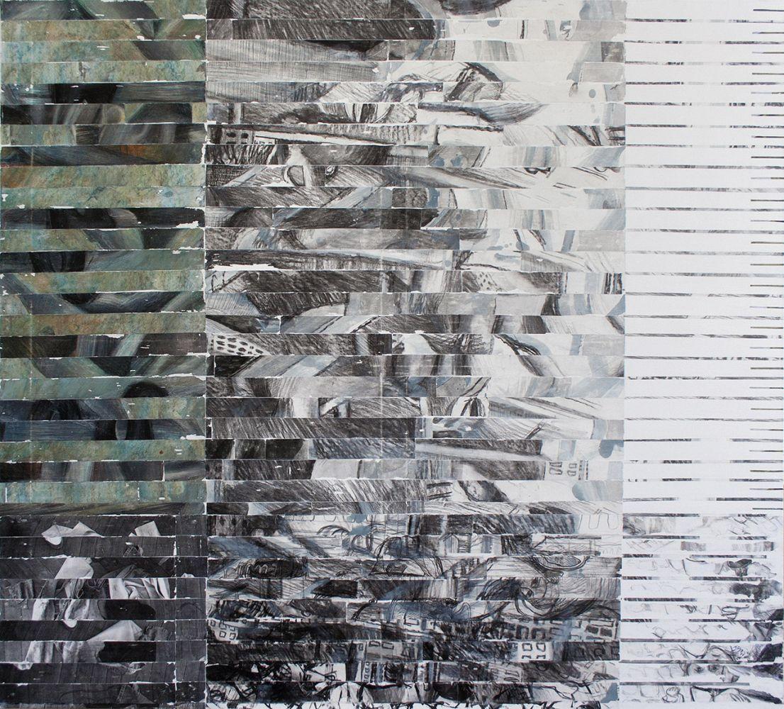 Maia Oprea, Transmografie II, 2015, tehnica  mixta pe panza