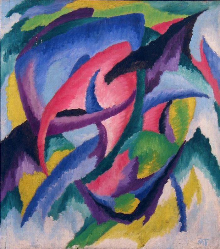 Hans Mattis-Teutsch, Flori sufleteşti (ulei pe pânză, 1920)