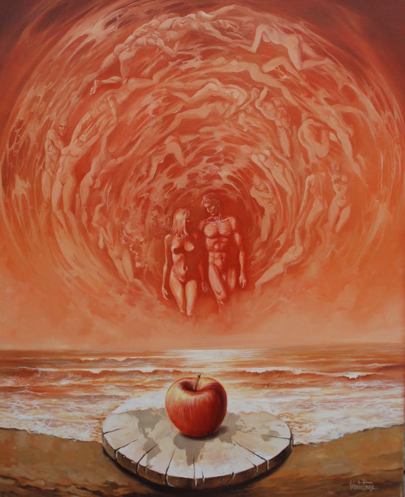 TANASE Valentin - L'Univers - 2001 - Huile sur toile - 80 x 60 cm (2)
