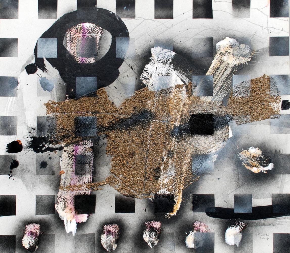 TOLAN Vasile - Lettres de Collioure V - 2008 - techn mixte sur carton - 65 x 75 cm