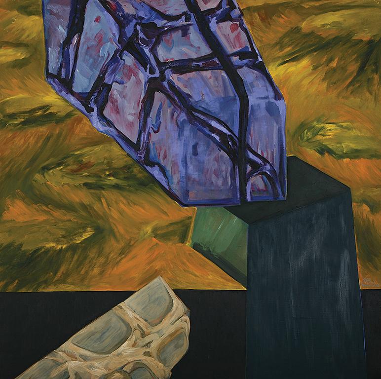 1.Marilena Preda Sânc, Aggressiveness, 1983, ulei pe pânză, 140x140cm, prin amabilitatea artistei și a galeriei Gaep