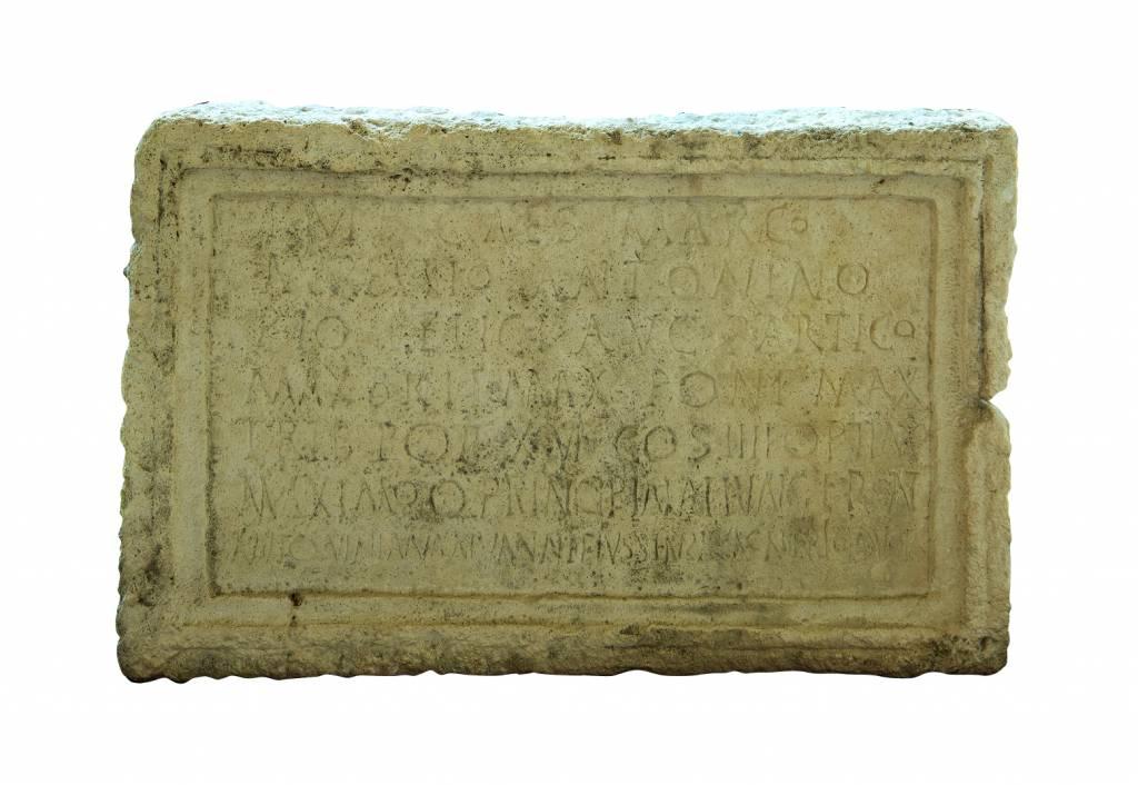 inscriptie dedicata imparatului Caracalla, Ilisua, jud. Bistrita Nasaud, anul 213 e.n.